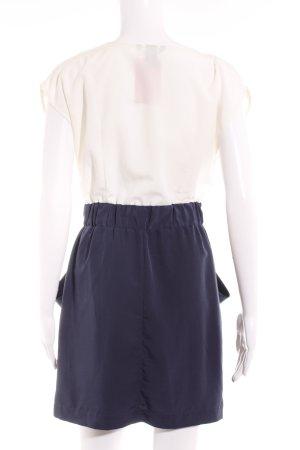 H&M Blusenkleid creme-dunkelblau Business-Look