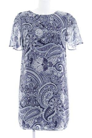 H&M Abito blusa blu scuro-blu pallido motivo lavorato stile casual
