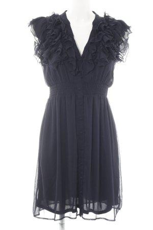 H&M Blusenkleid dunkelblau Elegant