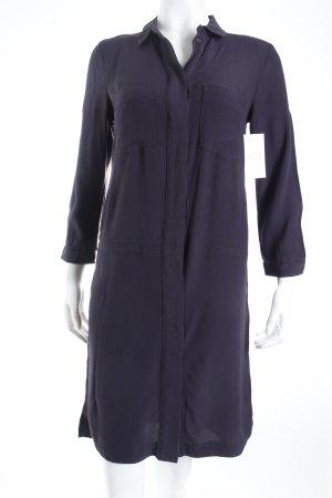 H&M Blusenkleid dunkelblau schlichter Stil