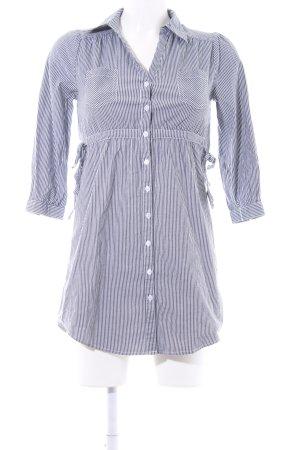 H&M Blusenkleid dunkelgrau-weiß Streifenmuster Business-Look