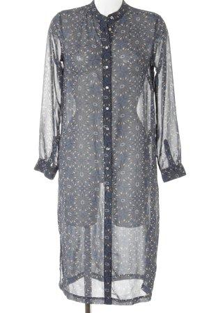 H&M Blusenkleid florales Muster Transparenz-Optik