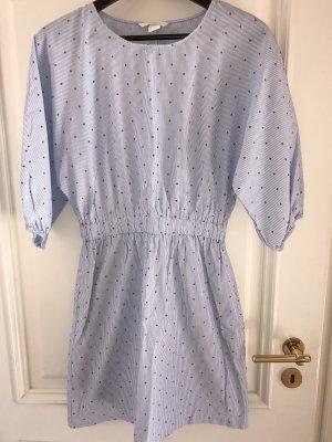 H&M Blusenkleid gestreift Sternchen Taschen 36