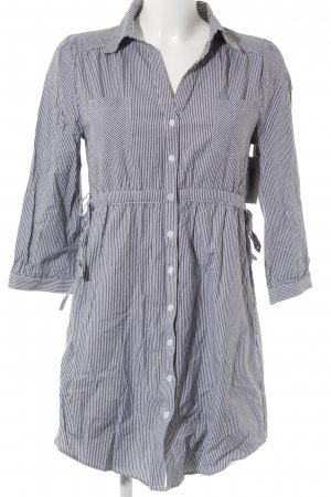 H&M Blouse Dress grey-white striped pattern casual look