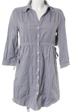 H&M Blusenkleid grau-weiß Streifenmuster Casual-Look