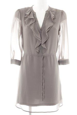 H&M Blusenkleid graubraun Elegant