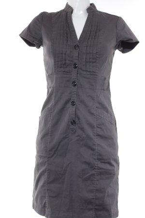 H&M Vestido camisero marrón grisáceo-gris estilo «business»
