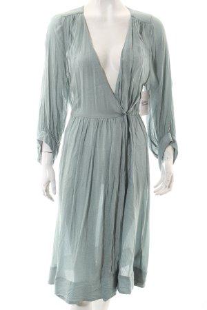 H&M Blusenkleid graugrün Beach-Look