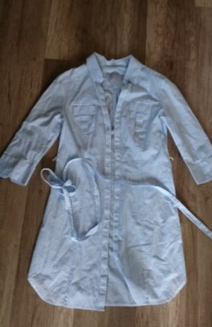 H&M Blusenkleid Hemdkleid Streifen Kleid gestreift Gürtel