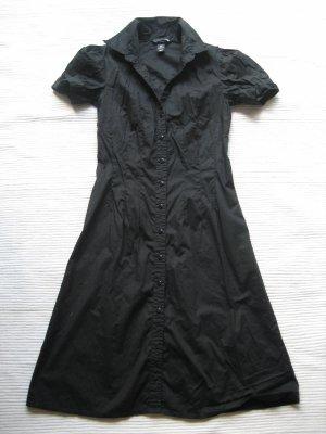 H&M blusenkleid neuwertig schwarz gr. xs 34