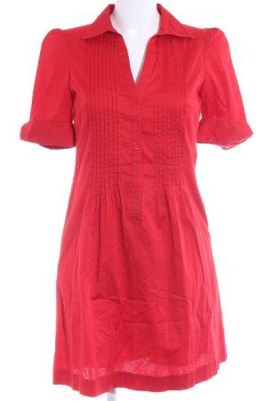 H&M Blusenkleid rot klassischer Stil