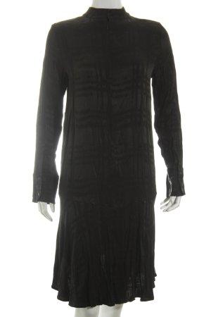 H&M Blusenkleid schwarz abstraktes Muster Schimmer-Optik