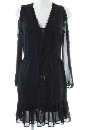H&M Blusenkleid schwarz Boho-Look