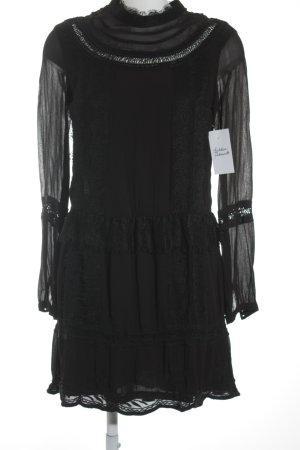H&M Blusenkleid schwarz extravaganter Stil