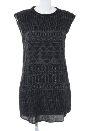 H&M Vestido camisero negro estampado artístico look casual