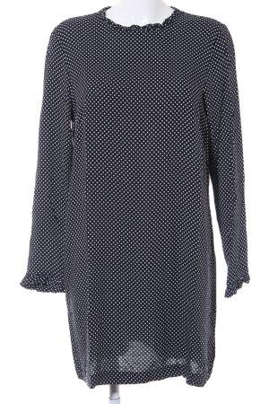 H&M Blousejurk zwart-wit gestippeld patroon casual uitstraling