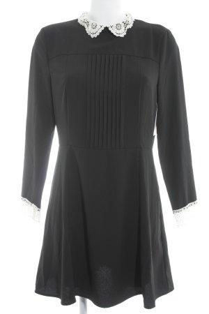 H&M Blusenkleid schwarz-wollweiß Elegant