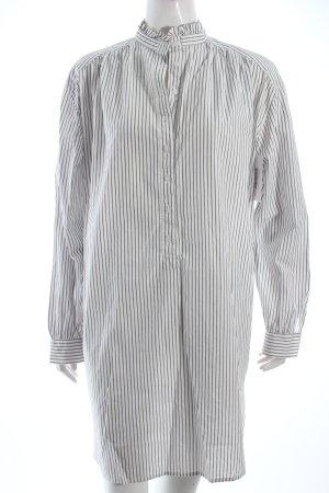 H&M Blusenkleid weiß-grau Streifenmuster