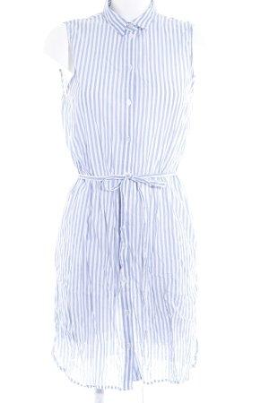 H&M Blusenkleid wollweiß-himmelblau Streifenmuster Casual-Look