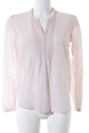 H&M Cuello de blusa rosa empolvado estampado a rayas estilo «business»