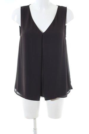 H&M Blouse topje zwart zakelijke stijl