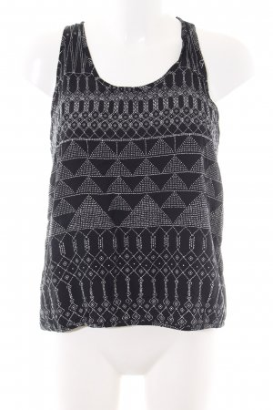 H&M Blouse topje zwart-wit volledige print casual uitstraling