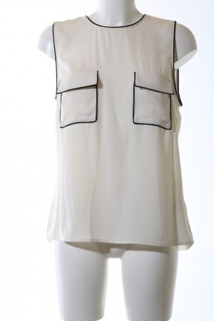 H&M Blusentop weiß-schwarz Business-Look