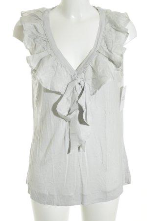 H&M Blusentop blassblau Romantik-Look