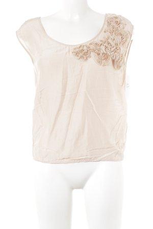 H&M Blusa rosa pallido motivo floreale stile professionale