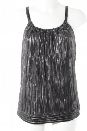 H&M Blouse Top silver-colored-dark grey metallic look