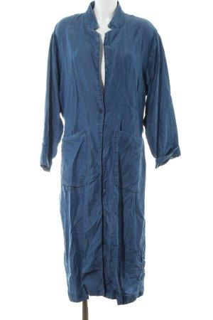 H&M bodenlanger Mantel blau Casual-Look