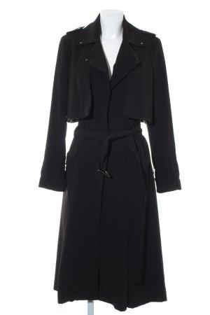 H&M bodenlanger Mantel schwarz Casual-Look