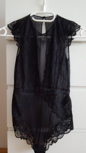 H&M Body in schwarz mit Spitze