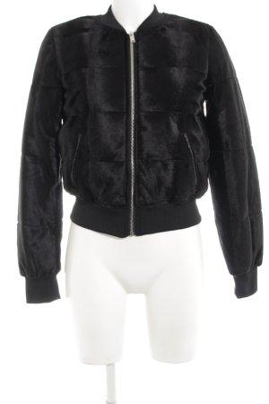 H&M Blouson aviateur noir motif de courtepointe style décontracté