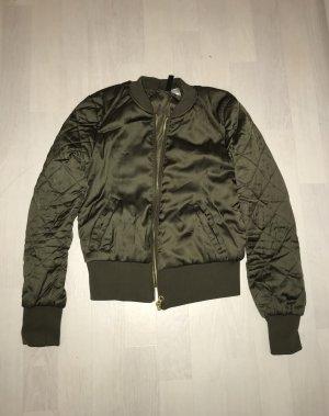 H&M Bomber Jacket dark green-olive green