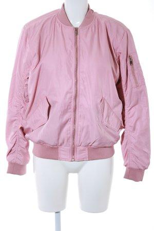 H&M Bomberjack stoffig roze straat-mode uitstraling