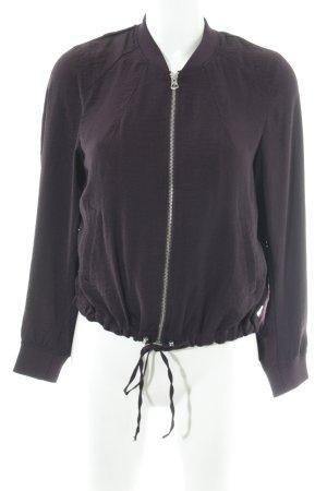 H&M Bomberjacke braunviolett Casual-Look