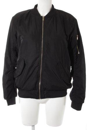 H&M Blouson aviateur rose clair-noir style décontracté