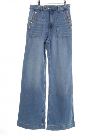 H&M Boot Cut spijkerbroek blauw casual uitstraling