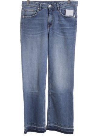 H&M Boot Cut Jeans blau Street-Fashion-Look
