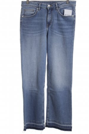 H&M Boot Cut Jeans blau Street-Fashion-Look