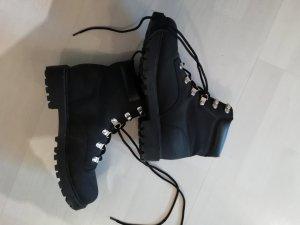 H&M Boots Stiefel Schnürstiefel Outdoor Profil