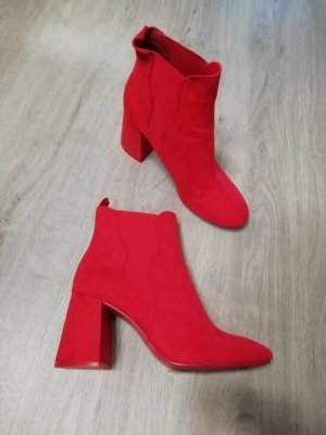 H&M Ankle Boots red