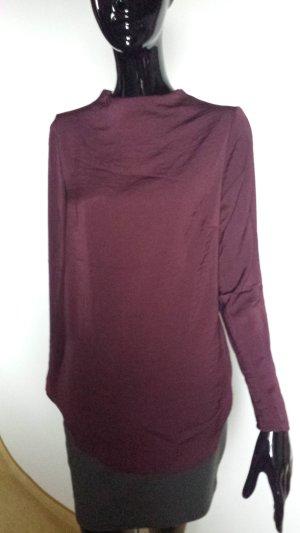 H&M bordeauxfarbene lange Bluse, Gr. 36