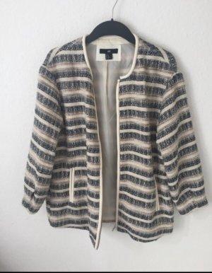 H&M Boucle Jacke oversized gestreift