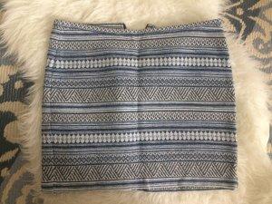 H&M Boucle Rock 38 M neu Tweed blau Sommer