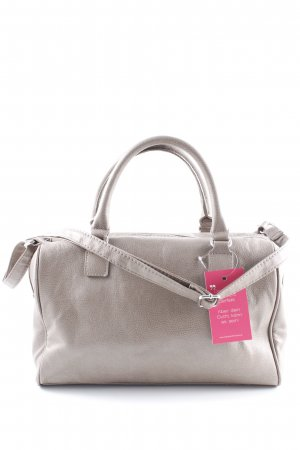 H&M Bowling Bag grey brown flecked simple style