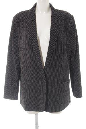H&M Blazer boyfriend noir motif rayé style d'affaires