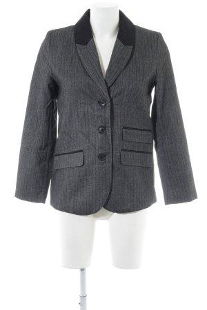 H&M Blazer Boyfriend gris claro-negro estampado a rayas estilo «business»