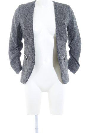 H&M Boyfriend-Blazer schwarz-hellgrau Fischgrätmuster Business-Look